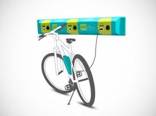 Grafik eines e-Bike Wandladeboard
