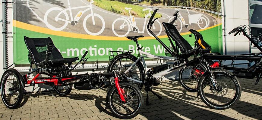 Hase Bikes in den e-motion e-Bike Welten