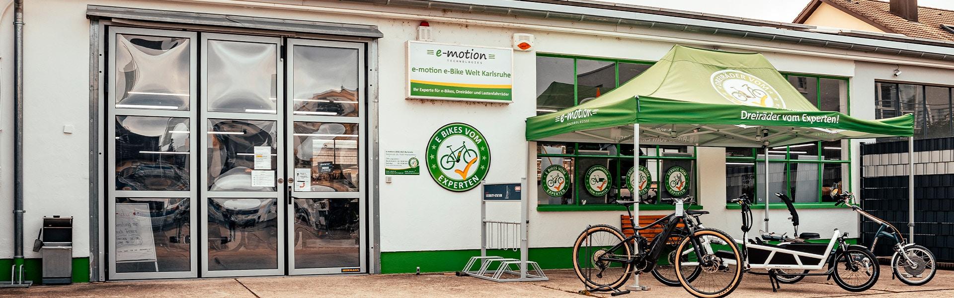 Der Shop der e-motion e-Bike Welt Karlsruhe
