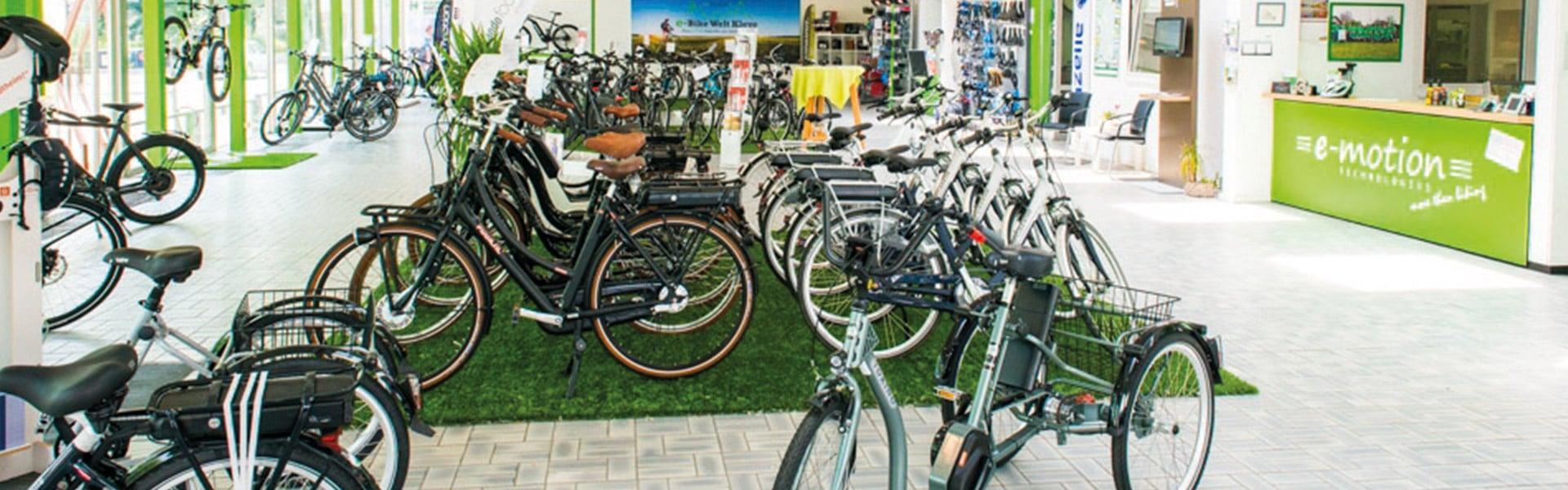 Der Shop der e-motion e-Bike Welt Kleve