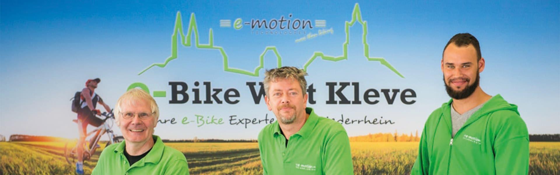 Das Team der e-motion e-Bike Welt Kleve