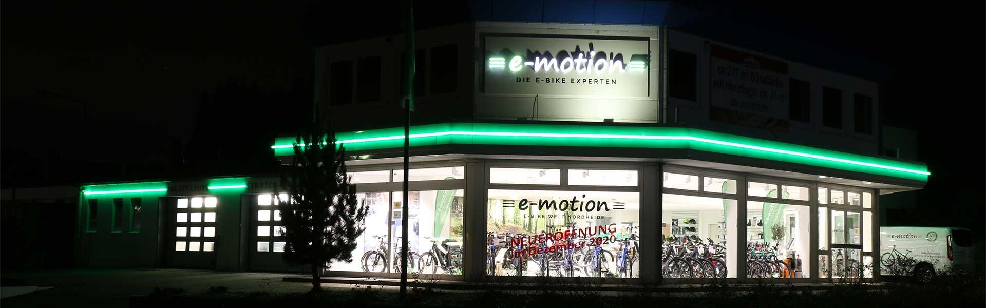 Außenansicht der e-motion e-Bike Welt Nordheide