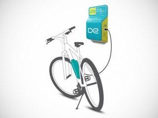 Grafik eines e-bike Wandladepoints