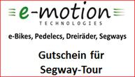 Segway Gutschein e-motion e-Bike Welt Tuttlingen