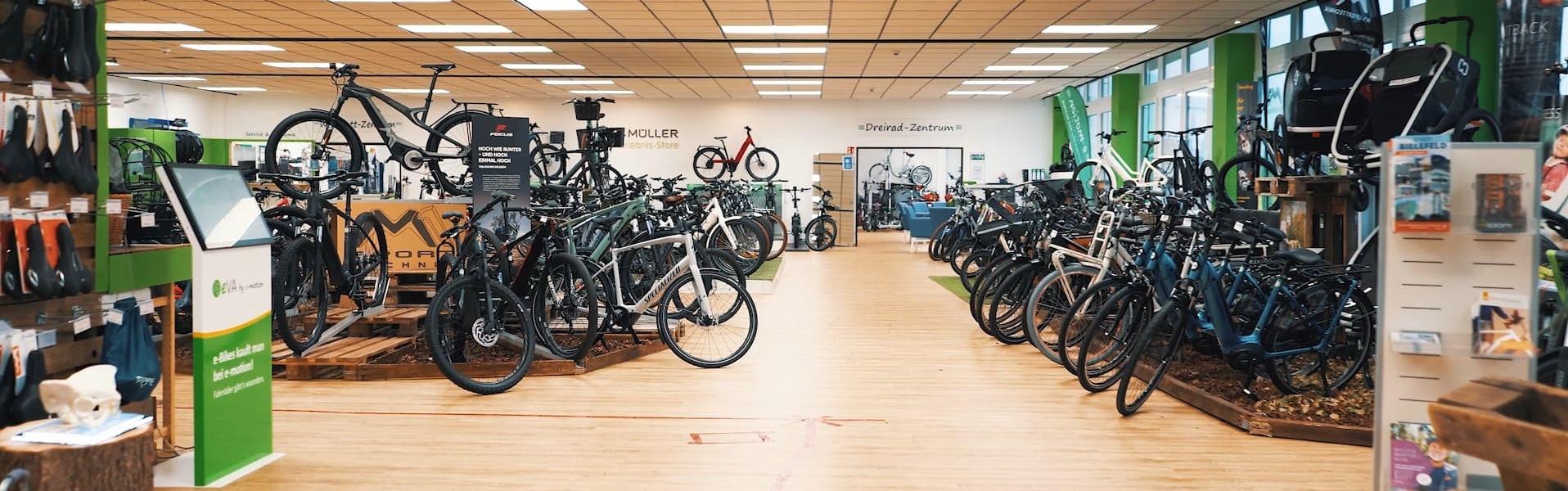 Ausstellung der e-Bike Welt Bielefeld