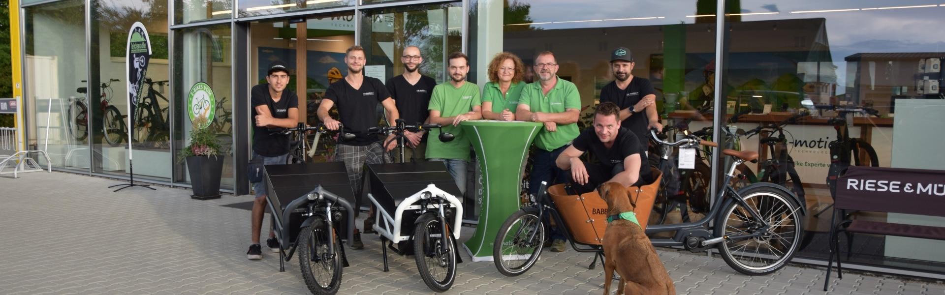 Das Team der e-motion e-Bike Welt Freiburg Süd