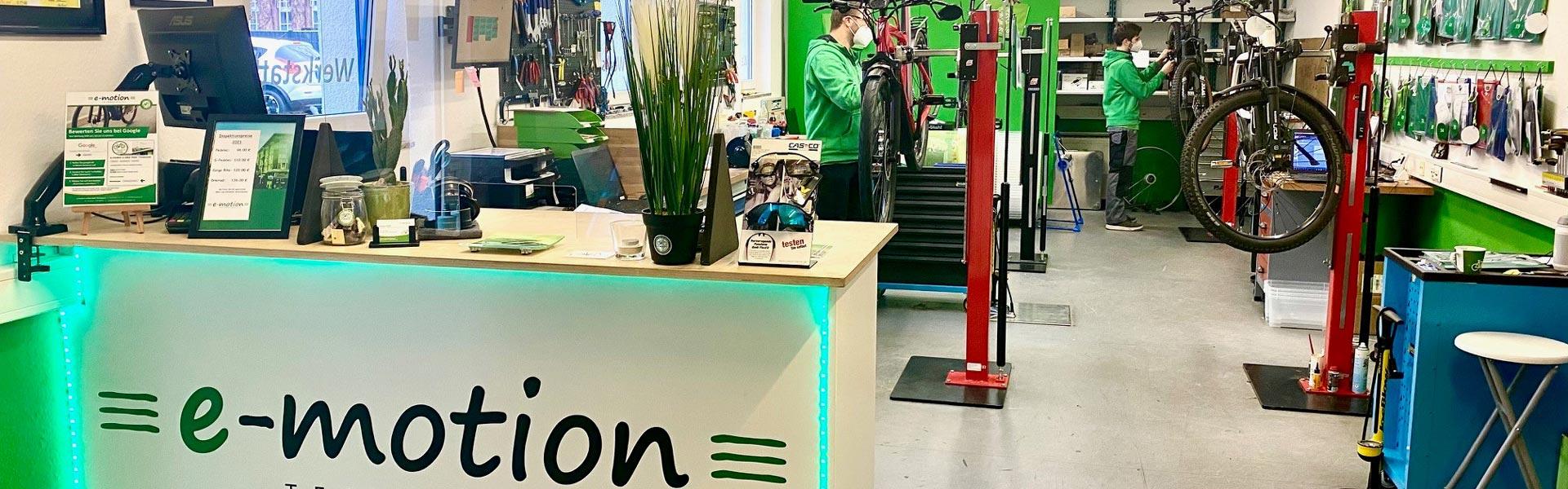 Die Werkstatt der e-motion e-Bike Welt Tönisvorst