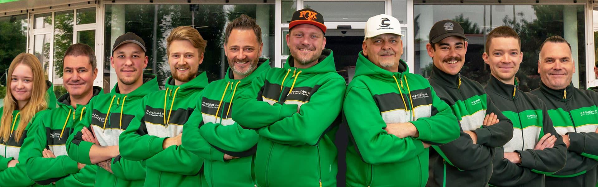 Das Team der e-motion e-Bike Welt Erfurt