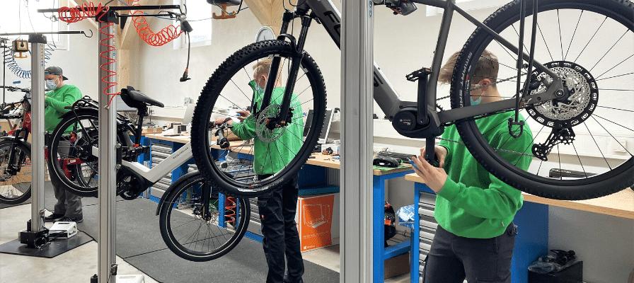 Werkstatt der e-motion e-Bike Welt Tuttlingen