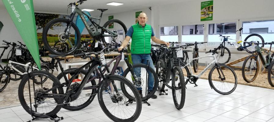 Inhaber der e-motion e-Bike Welt Merzig mit Specialized e-Bikes