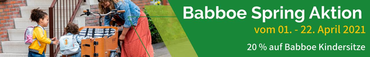 Babboe Spring Aktion 2021 Kindersitze