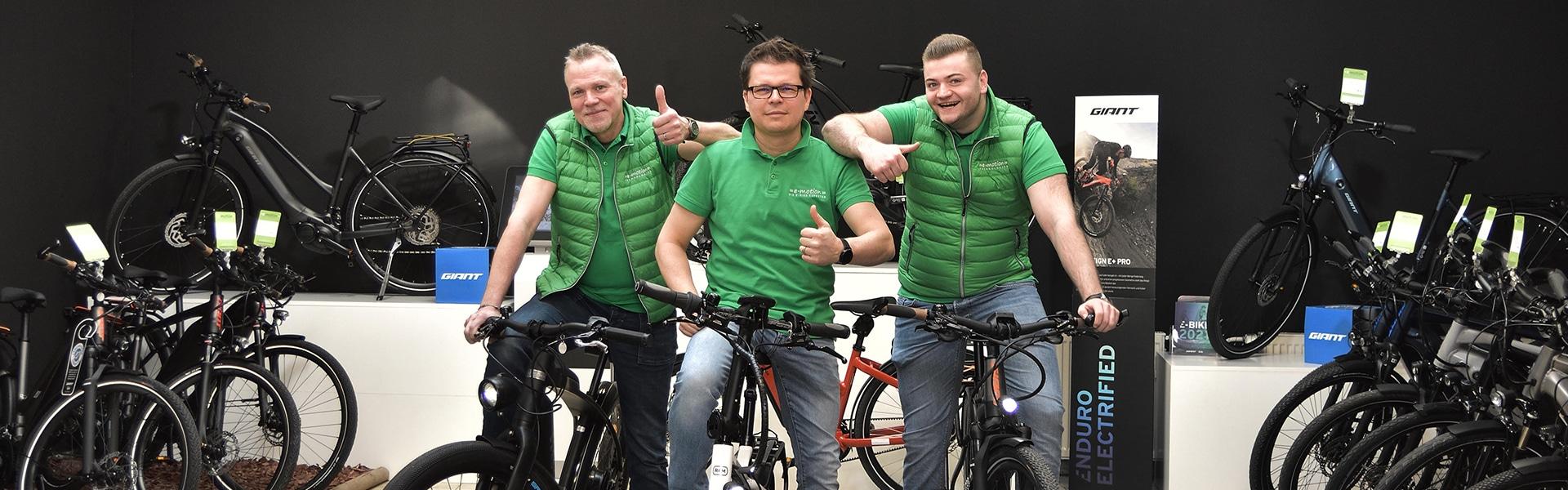 Das Team der e-motion e-Bike Welt Hannover