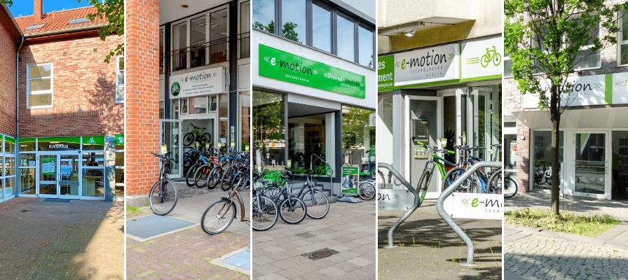 e-motion e-Bike Welten in Berlin, Braunschweig und Hannover