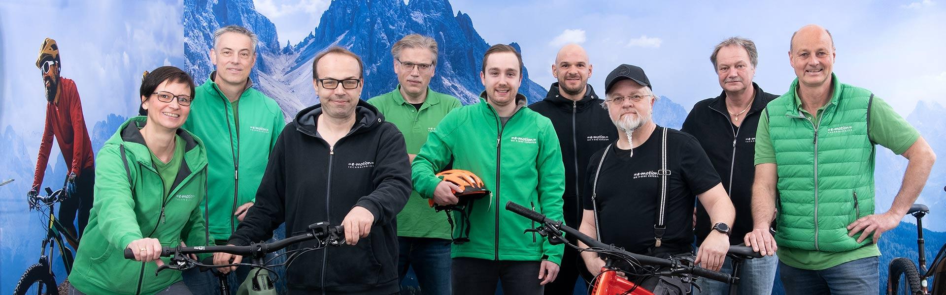 Team der e-motion e-Bike Welt Würzburg Titelbild