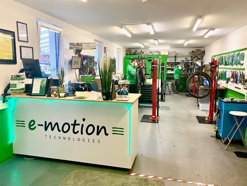 Werkstatt der e-motion e-Bike Welt Tönisvorst