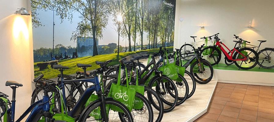 Innenansicht des e-motion e-Bike Premium Shops Köln