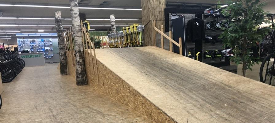 Indoor Teststrecke e-motion e-Bike Welt Nuernberg