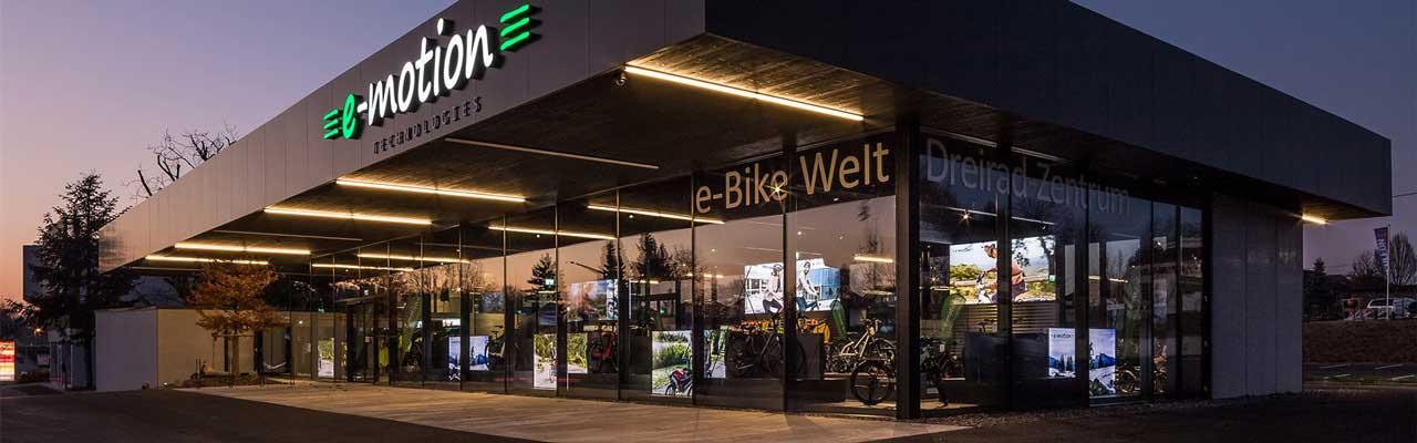 Der Shop der e-motion e-Bike Welt Bad Hall in Österreich