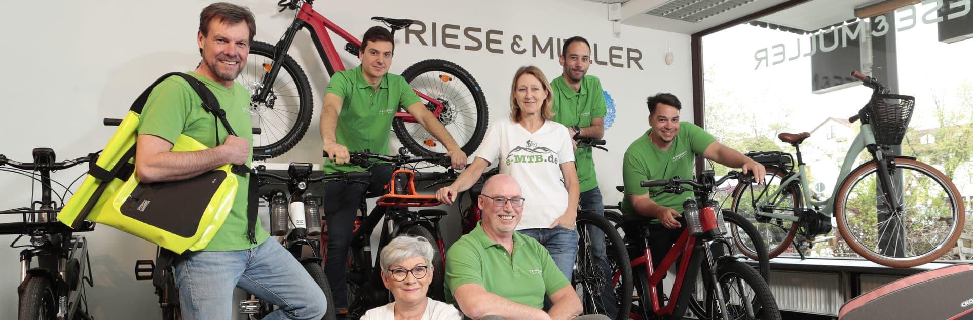 Das Team der e-motion e-Bike Welt München Süd