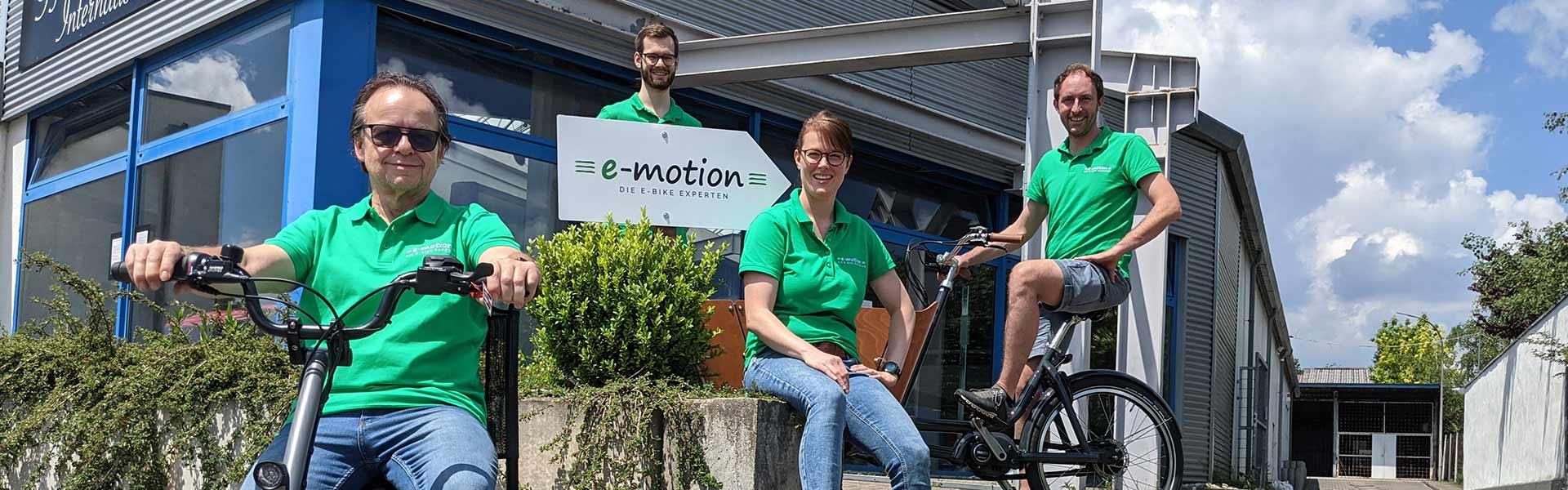 Das Team der e-motion e-Bike Welt Kaiserslautern