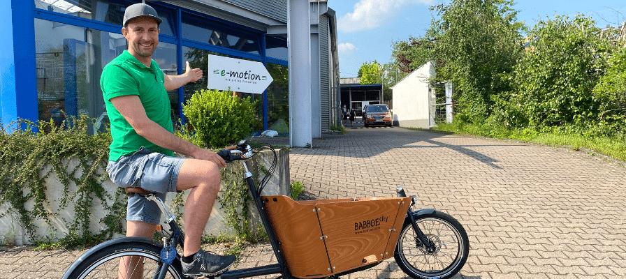 Tobi Hopf aus dem Lastenfahrrad-Zentrum Kaiserslautern
