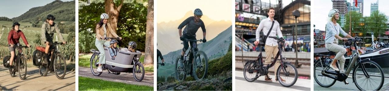 Vor Ort verfügbare e-Bike Typen