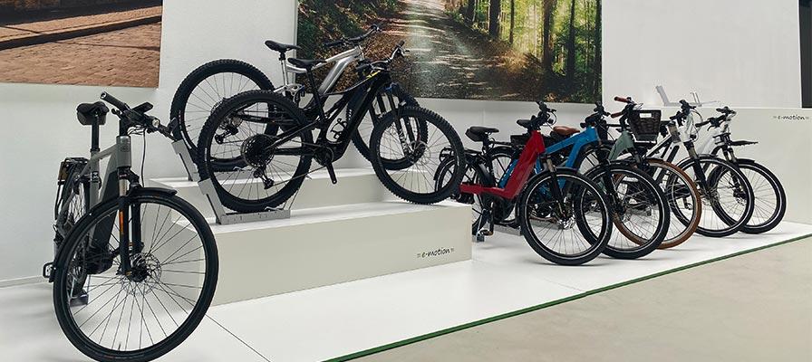 Die Auswahl in der e-motion e-Bike Welt Kaiserslautern