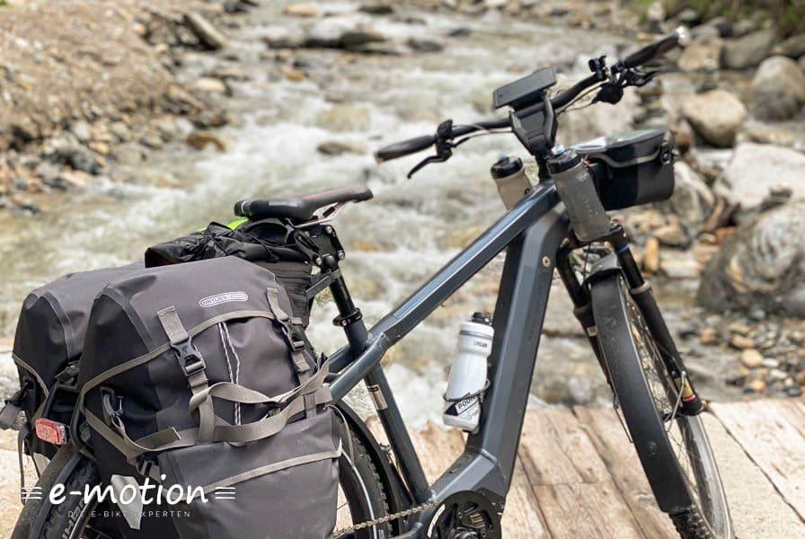 Fahrrad auf den Bergen