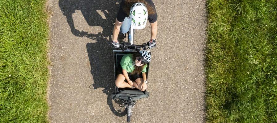 Riese & Müller Lastenbike aus Vogelperspektive Tuttlingen