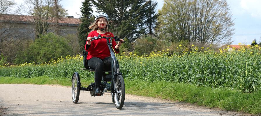 Frau auf dem Van Raam Easy Rider 3 Dreirad