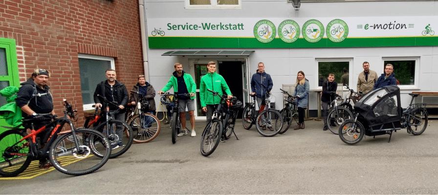 Teambild e-motion e-Bike Welt Hamburg