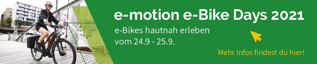 Einladung zu den e-Bike Days 2021 in Kaiserslautern